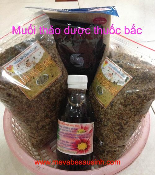 Bán muối thảo dược thuốc bắc săn bụng sau sinh tại Huyện Hóc Môn, HCM